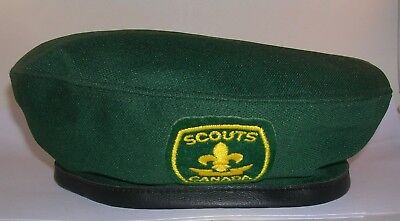 Vintage Original Official Boy Scouts of Canada Green Beret Size Medium