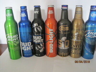 Bud Light Aluminum 16 Oz Cans..please Look At Pictures..all Are Empty