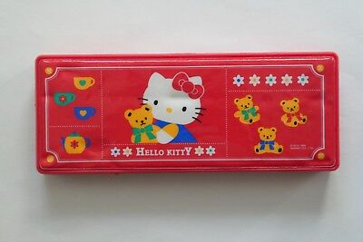 Vintage and very collectable HELLO KITTY very interesting PENCIL BOX by Sanrio