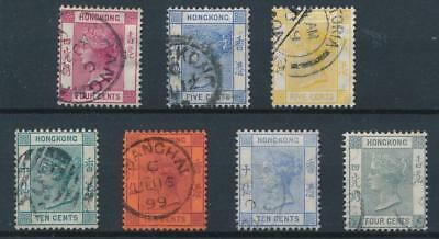 [30030] Hong Kong 1882/1902 Good lot Very Fine used stamps
