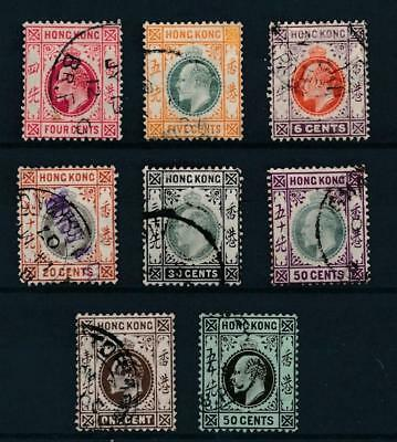 [30040] Hong Kong 1904/11 Good lot Very Fine used stamps