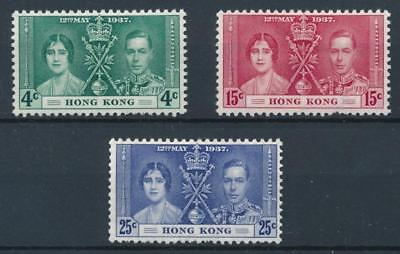[30046] Hong Kong 1937 Good set Very Fine MH stamps