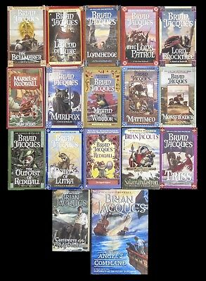 BRIAN JACQUES TALES FROM REDWALL Heroic Fantasy & others Lot of 17 PBs