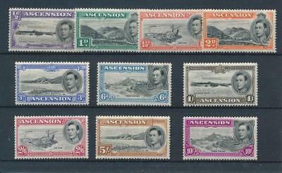 [30231] Ascension 1938/44 Good lot Very Fine MH stamps
