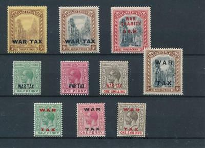 [30298] Bahamas 1918/19 Good lot Very Fine MH stamps
