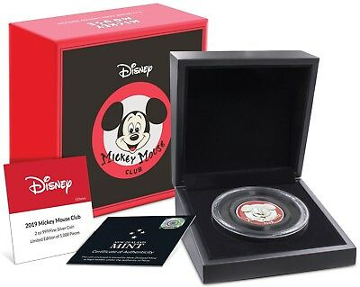 2019 Disney - Mickey Mouse Club Ultra High Relief 2oz Silver Coin Present Gift