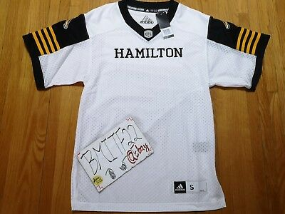 NWT Hamilton Tiger Cats CFL Adidas Authentic Premier Jersey Men Small bbffd21cf