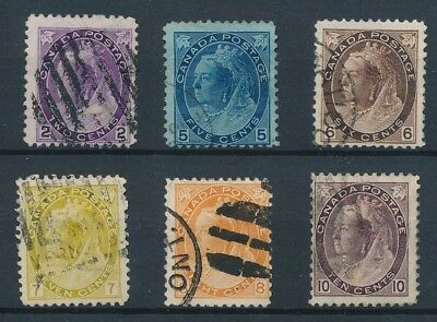 [39764] Canada 1897/98 Good lot Very Fine used stamps