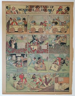LITTLE NEMO WInsor McCay - In the Wonderful Land of Dreams  - March 29, 1914