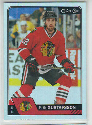 16/17 OPC Chicago Blackhawks Erik Gustafsson Rainbow card #419