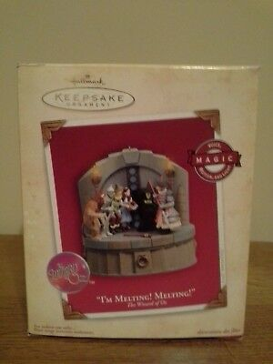 The Wizard of Oz 2004 I'm Melting! Hallmark Keepsake Christmas Tree Ornament