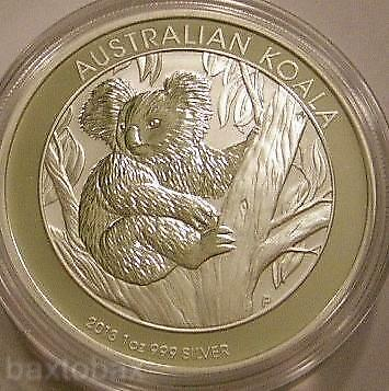 2013 AUSTRALIAN KOALA BEAR IN TREE 1 oz. SILVER COIN *BU*
