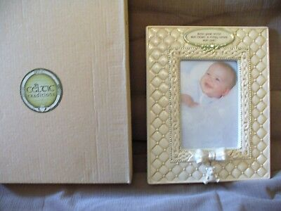 "Celtic Traditions - Ceramic Baby Photo Frame (Irish) - 3 1/4"" x 5"" - NEW"