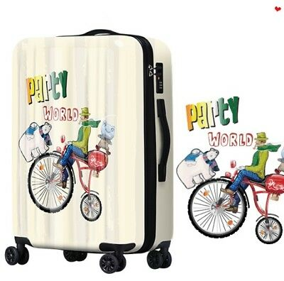 A698 Lock Universal Wheel Cartoon Characters Travel Suitcase Luggage 20 Inches W