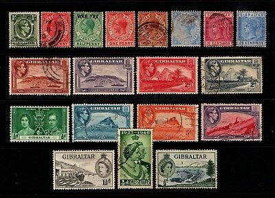 Gibraltar  Old  Mint  And  Used  Collection.        Gib 1