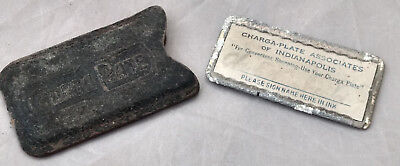 Charge Plate Indianapolis Indiana Antique Credit Card Case VTG