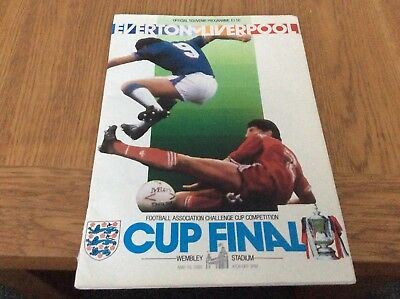 Fa cup final programme 1986 Everton V Liverpool  10th may 86