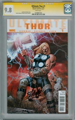 Ultimate Thor #1 Cgc 9.8 Signature Series Signed Stan Lee Marvel Comics