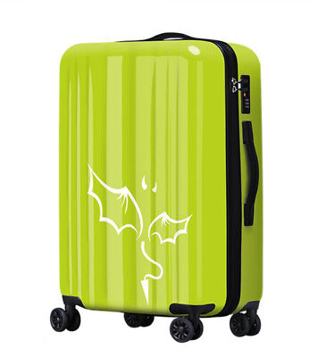 A557 Lock Universal Wheel Grass Green Travel Suitcase Cabin Luggage 24 Inches W