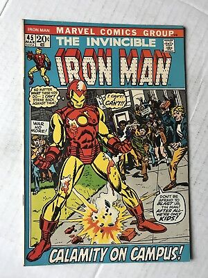 THE INVINCIBLE IRON MAN #45 March 1972 Vintage Marvel Avengers