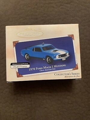 2002 Hallmark Keepsake Ornament 1970 Ford Mach 1 Mustang New NIB Old Stock