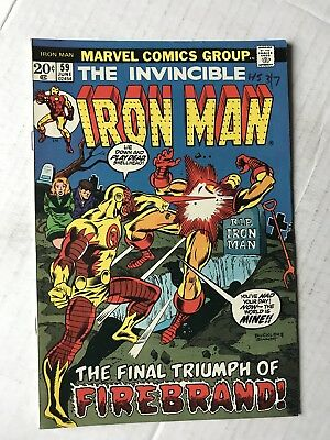 THE INVINCIBLE IRON MAN #59 June 1973 Vintage The Avengers Marvel