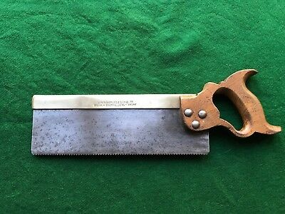 vintage w marples 12inch brass backed tenon saw
