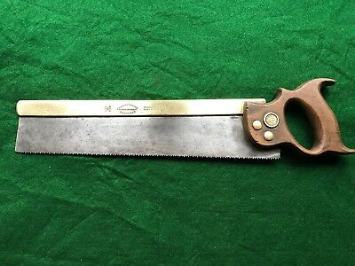 vintage chas grey and sons  14 inch brass backed tenon saw