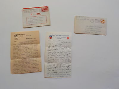 """4 WWII Letters Germany 76th Infantry Division """"Onaway"""" Soldier Army WW2"""