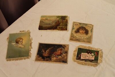 Lot of  Antique Greeting Cards Christmas Misc