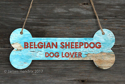 Belgian Sheepdog  Aluminum Dog Bone Sign