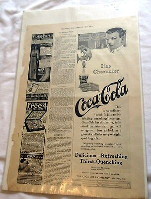 1913 The People's Home Journal Coca Cola Advertisement