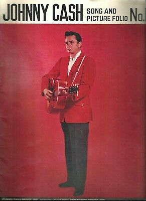 Vintage 1959 Johnny Cash Song And Picture Folio No. 1 + Ticket Stubs + Article