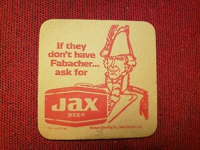 Vintage Bar Mat Coaster Jax Beer They Don't Have Fabacher Jackson Brewing Orlean
