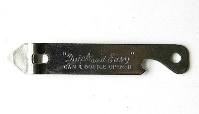 Quick And Easy Can & Bottle Opener Church Key Vaughan Chicago 24 USA Vtg