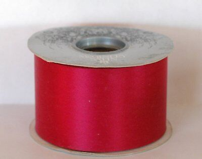 """McGinley Mills 1 Roll Coral  #40 Satin Ribbon 50 Yards 2 1//2/"""" Wide"""