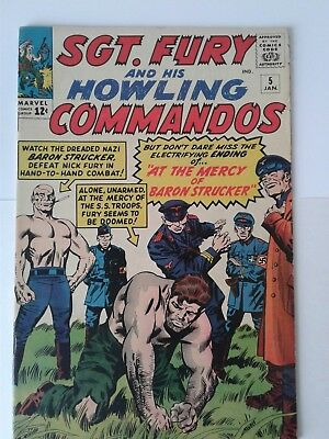 Sgt. Fury and his Howling Commandos #5 Key Issue - 1st Baron Strucker 7.5