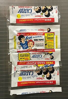 RARE - Vintage 1966 THE BEATLES World Candies Yeah Yeah Candy Sticks Wrapper