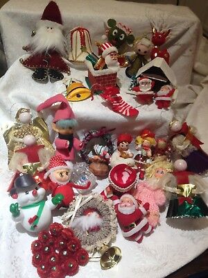 Vintage Lot of Christmas Decorations