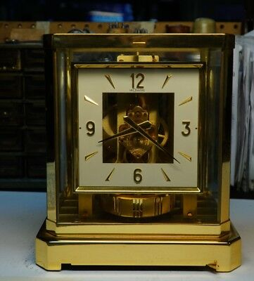 Deco PeriodSquare Dial Working Jaeger Lecoultre Atmos Clock
