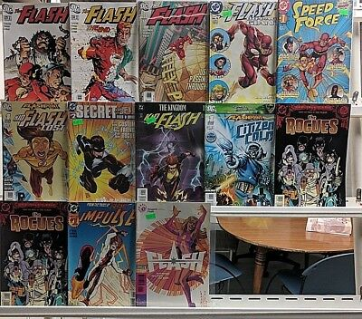 Flash Comics Huge 13 Comic Book Lot Collection Set Run Books Box 5
