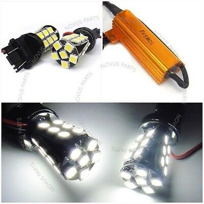 Fit TOYOTA No Error High Power SMD LED 3157 Parking Light WHITE 3156 3457 3357
