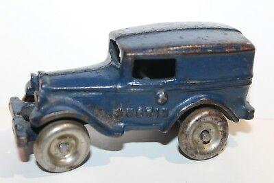 NICE VINTAGE 1930's A.C. WILLIAMS CAST IRON AUSTIN PANEL DELIVERY TRUCK