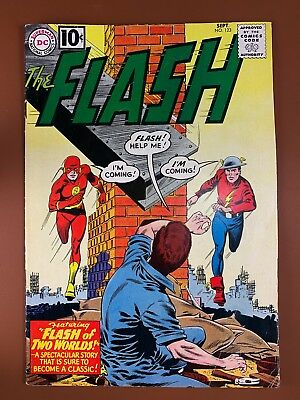 The Flash #123 DC Comics 1st Golden Age Flash in Silver age appearance