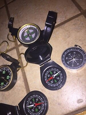 Compass Lot Of 10 Please See Pictures