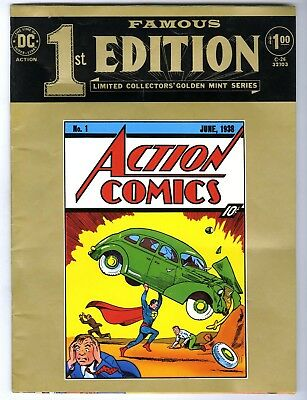 Famous First Edition Action Comics #1 (1974) C-26 F/VF DC Treasury Edition