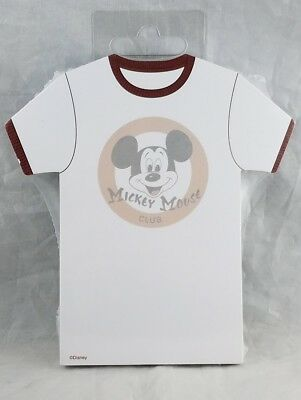 Disney Parks Mickey Mouse Club T Shirt Notepad Magnet 100 Sheets - NEW