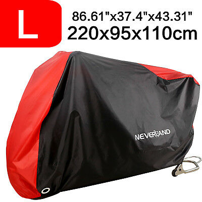 220cm Waterproof Outdoor Motorcycle Scooter Cover UV Rain Snow Protector Large