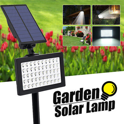 50LED Solar Power Spotlight Garden Lawn Lamp Landscape Outdoor Waterproof Lights