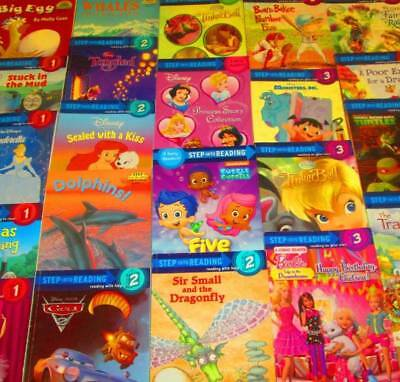Step Into Reading LEVELED READERS Lot of 22-Levels-Early, 1,2,3, 4 & 5- Disney,